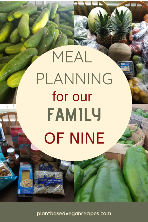 vegan meal planning for a large family